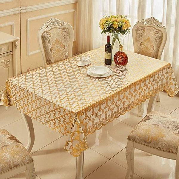 Coffee, bedsidetablecloth, gold, rectangulartablecloth