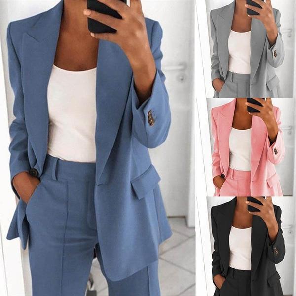 Turn-down Collar, suitforwomen, Fashion, Blazer