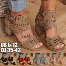 wedge, chunkyheelsandal, sandalenfrauen, Womens Shoes