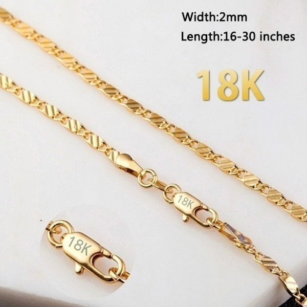 925 sterling silver necklace, Fashion, gold, thinchainnecklace
