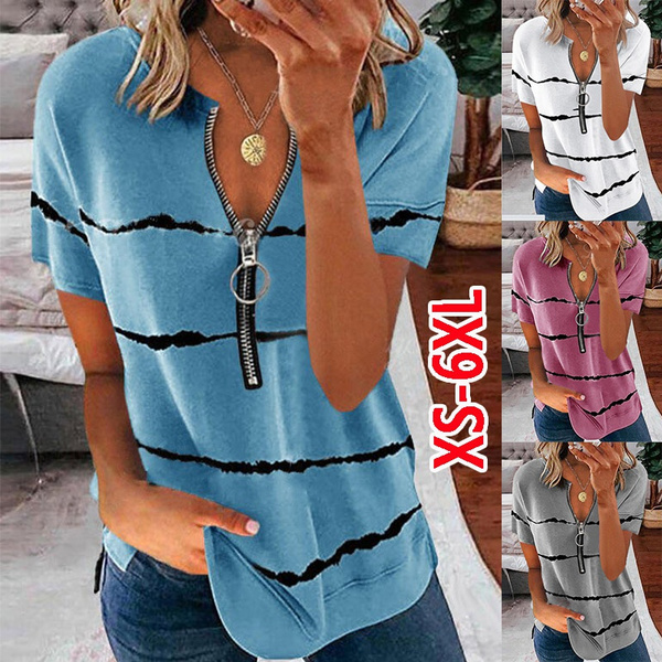 Summer, womens top, Plus size top, V-neck