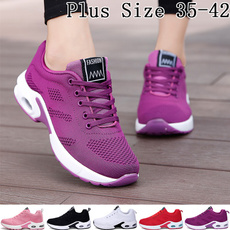 pink, Women, breathableaircushionshoe, Plus Size