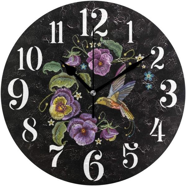 Decor, Flowers, leaf, Clock