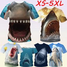 Mens T Shirt, Shark, Fashion, Necks