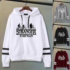 Casual Hoodie, Sleeve, letter print, hoodies for women