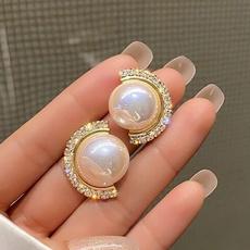 Fashion, Pearl Earrings, vintage earrings, Stud Earring