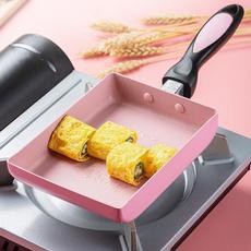 pink, tamagoyaki, fryingeggpan, Aluminum