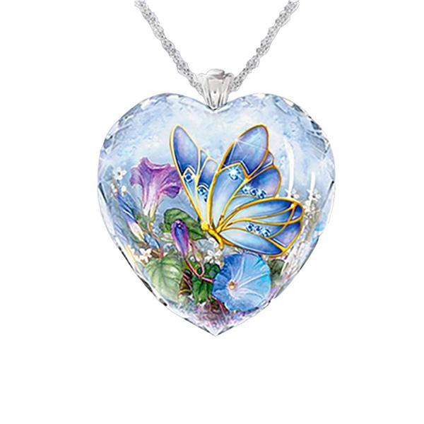 Blues, butterfly, Flowers, Love