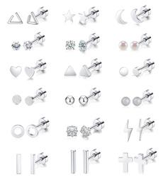 autolisted, Heart, Triangles, Stud Earring