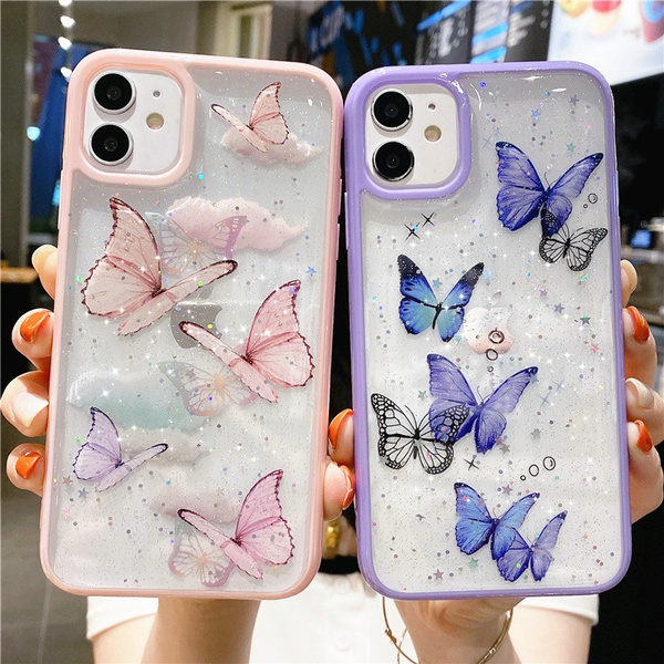 blingglitterbutterflyphonecase, butterfly, Cases & Covers, Bling