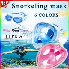 divingmask, antifogmask, snorkelset, breathingmask