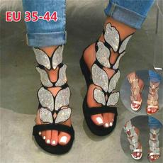 butterfly, Summer, Plus Size, Sandals & Flip Flops