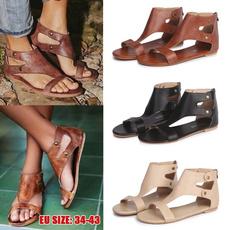 casual shoes, Summer, Sandals, blacksandalsslipper