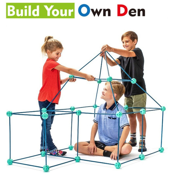 Toy, fortbuildingkit, camping, constructiontoy