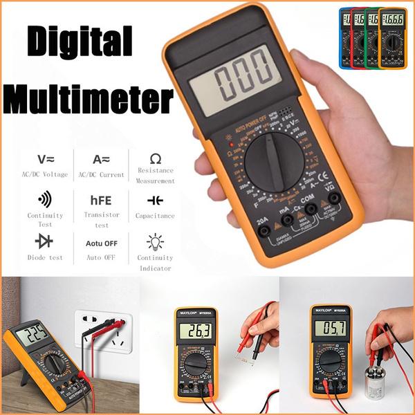 amperemeter, digitalmultimeter, resistancemeter, diodemeter