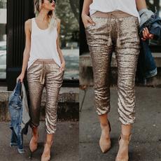 Women Pants, womenstrouser, elastic waist, skinny pants
