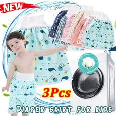 toddlerinfantdiaper, diaperskirtforkid, pants, waterproofmattre