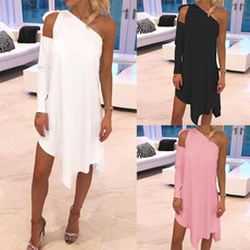 Women's Fashion, Summer, Strapless Dress, Plus Size