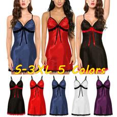 sleevelessnightie, lacesatinnightwear, lacesilknightwear, Lace