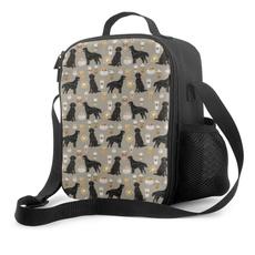 Totes, Waterproof, insulatedlunchbag, flatcoatedretrievercoffeemasklunchbag