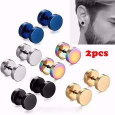 Steel, Jewelry, Stud Earring, Stainless Steel
