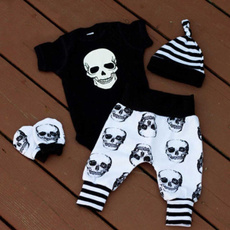 Summer, Fashion, babyromper, skull