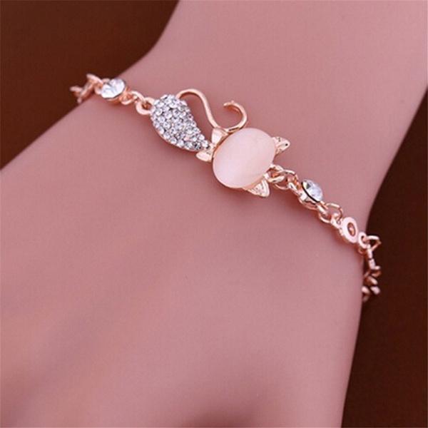 Crystal Bracelet, DIAMOND, Jewelry, gold
