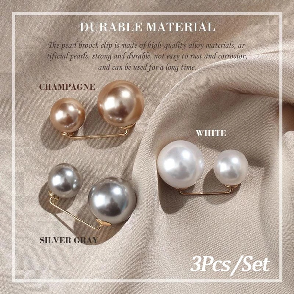 pearlpin, Fashion, scarfbuckledecoration, Jewelry