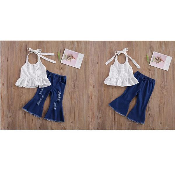 Halterneck Top, Halter, toddlerbabygirlsclothe, pants