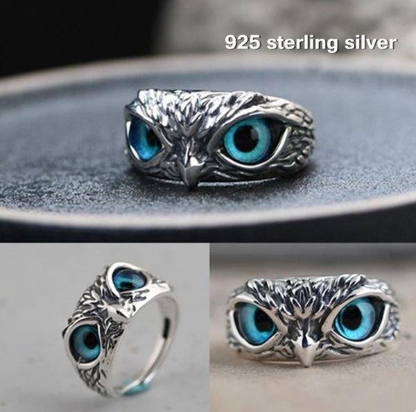 Blues, Owl, catseyering, animalring