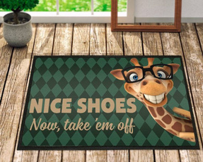 Funny, giraffe, Shoes, doormat