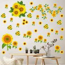 Decor, art, Sunflowers, Wall Decal