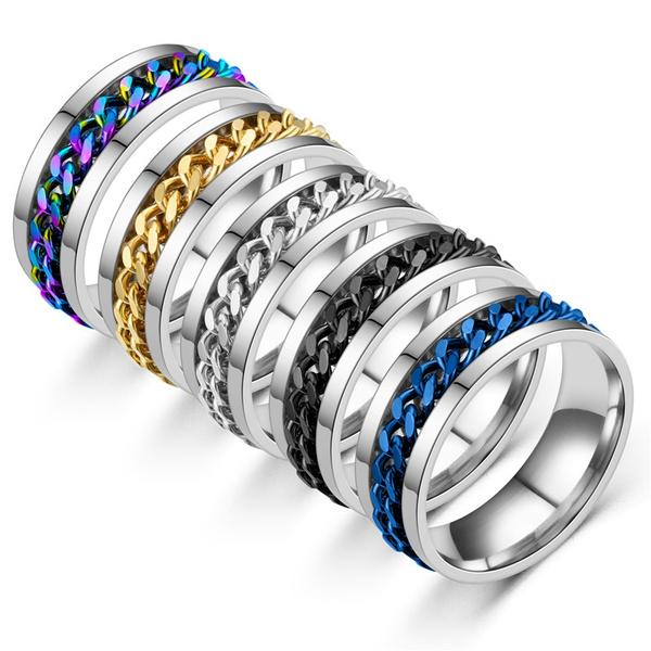 Steel, size6to12weddingring, titaniumsilverblackgoldmenring, wedding ring
