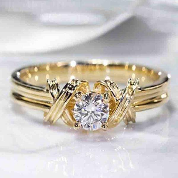 Vintage, DIAMOND, zirconring, gold