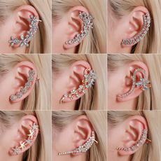boho, Jewelry, Crystal, flower earrings