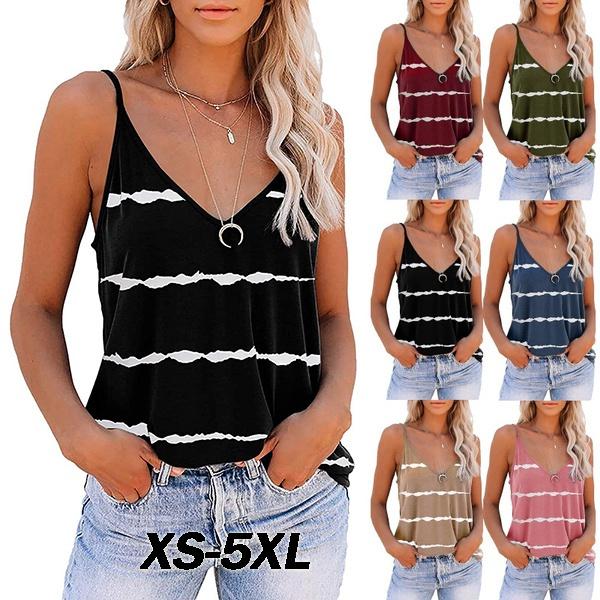 Summer, Fashion, Tank, Stripes