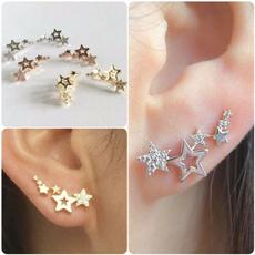 crystalsearring, DIAMOND, Star, Beauty