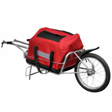 luggagecart, bicycletrailer, singlewheeled, Bicycle