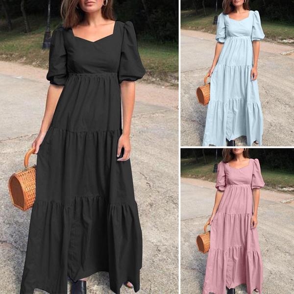 dressforwomen, maxikaftan, Fashion, pleated dress