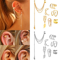 Sterling, Fashion, gold, earclipearring