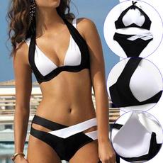 bathing suit, patchworkbikini, Fashion, Halter