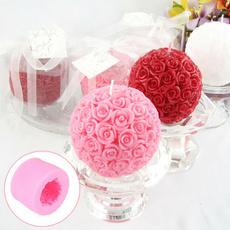Ball, Baking, Silicone, Rose