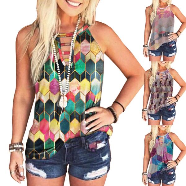 blouse, Summer, Vest, Plus Size