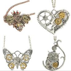 butterfly, neckchain, mechanic, headdress