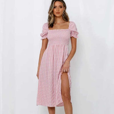 pink, Summer, Strapless Dress, Fashion