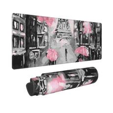 pink, art, rubbermousepad, artparisstreeteiffeltowerpinkmousepad