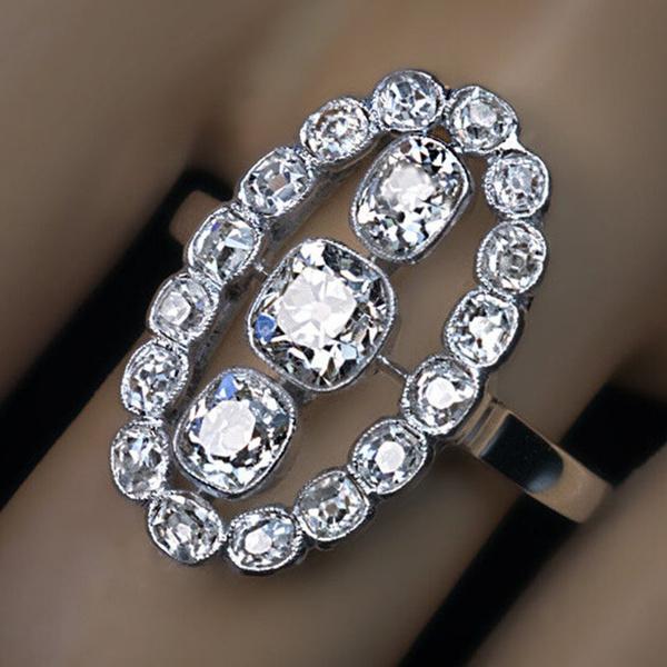 Antique, White Gold, DIAMOND, wedding ring