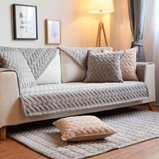 Gray, velvet, Simple, Sofas
