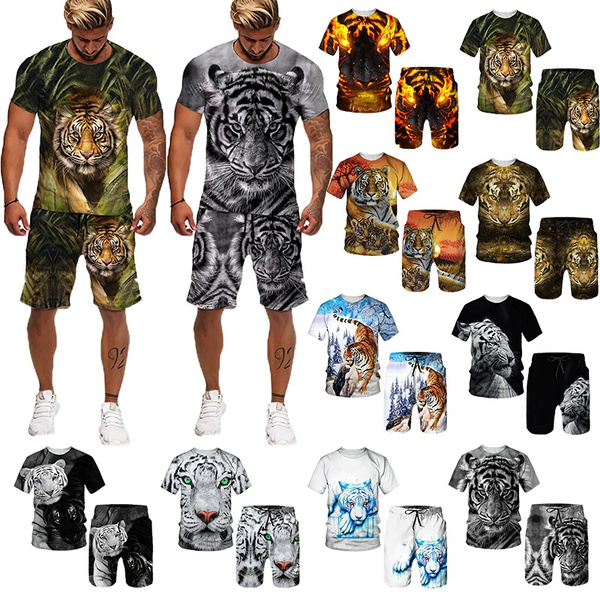 Plus Size, 3dtiger, animal print, comfortablesuit