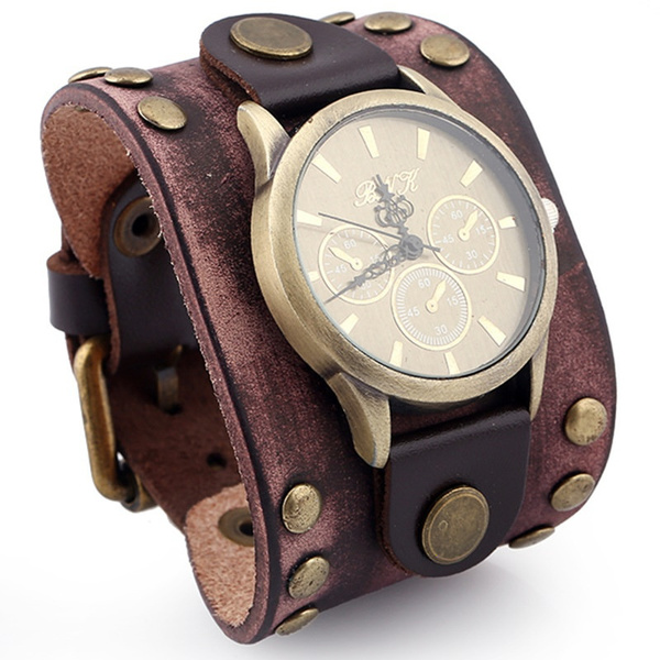 Traditional, Fashion Accessory, Leather Strap Watches, blackleatherbracelet